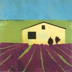 """""""Lavender Field"""" - 20"""" x 20"""" - Works on Paper"""