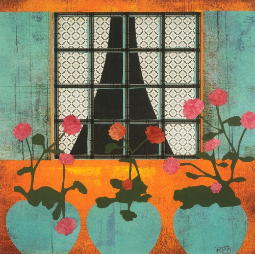 """""""French Window"""" - 20"""" x 20"""" - Works on Paper"""