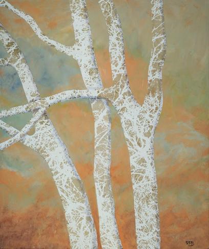 """""""Sycamore Tree Series II"""" - 20"""" x 24"""" - Mixed Media"""
