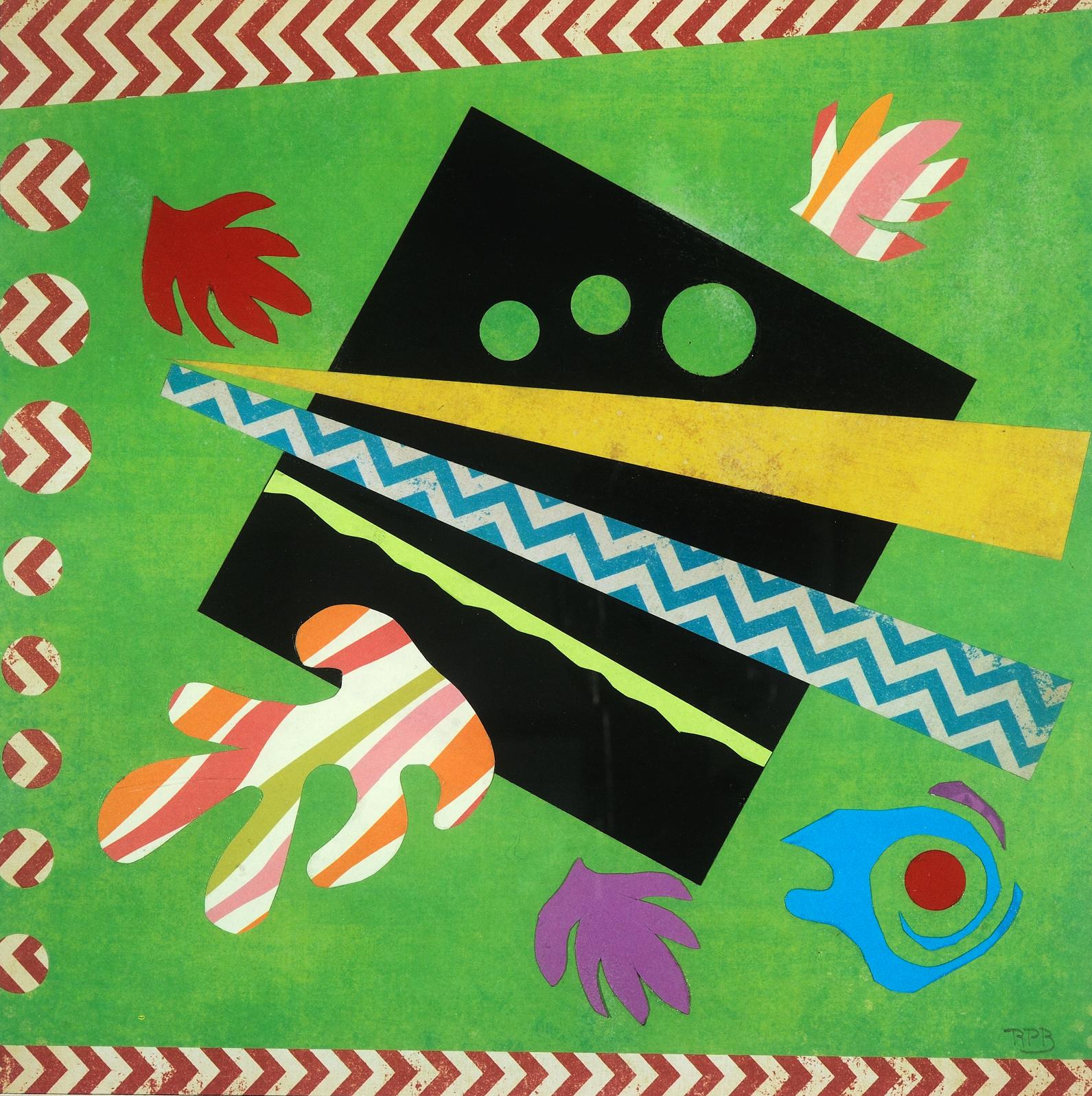 """""""Hawaiian Abstract II"""" - 18"""" x 18"""" Collage"""