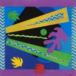 """""""Hawaiian Abstract I"""" - 18"""" x 18""""Collage"""
