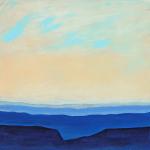 """""""Skyline Blues -  Evensong"""" - 20"""" x 20""""Acrylic on Canvas"""