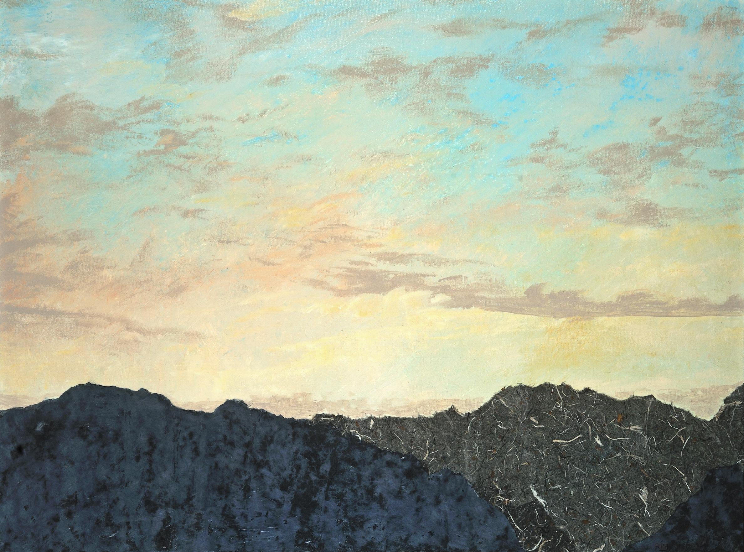 """""""Rocky Mountain Sky"""" - 30"""" x 40""""  - Mixed Media"""