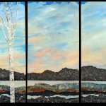 """""""Memories of Lake Mead"""" - 15"""" x 30"""" [x 5 pieces]Mixed Media on Canvas"""